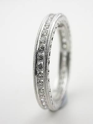 Diamond Eternity Band With Carved Motif Rg 3270 Vintage Style