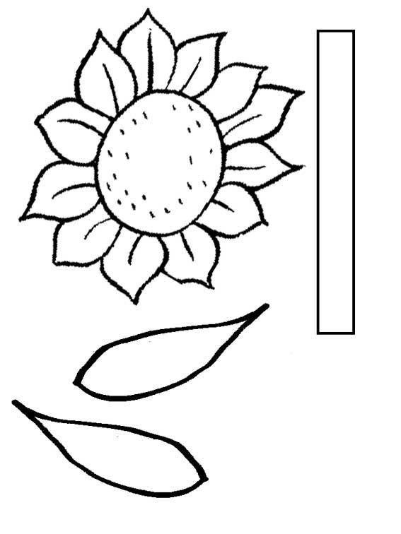Flower Stem Template Print Out Flower Templates Printable Free Flower Templates Printable Sunflower Template