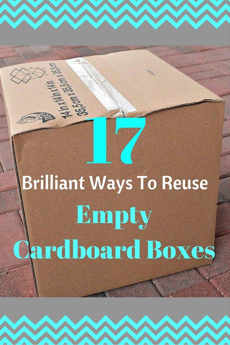 15 Creative Ways To Reuse A Cardboard Box Diy Ideas Cardboard Box Diy Cardboard Crafts Diy Diy Box