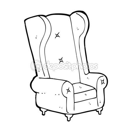 Cartoon Old Armchair Cartoon Chair Drawing Arm Chairs Living Room