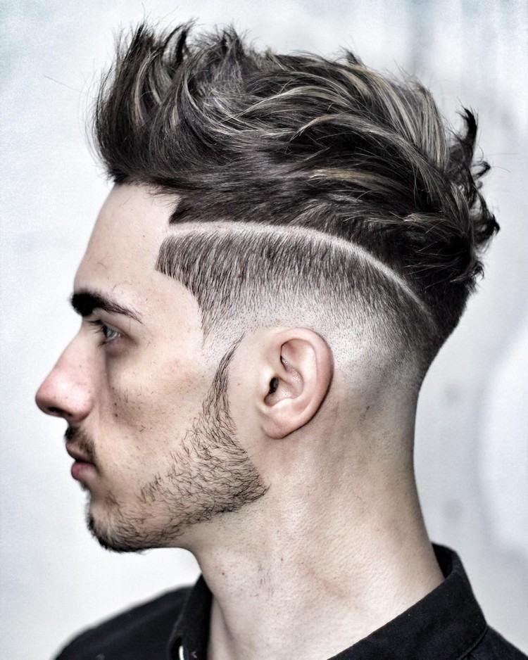 idée de coiffure homme tendance , Undercut pour cheveux courts hérissés