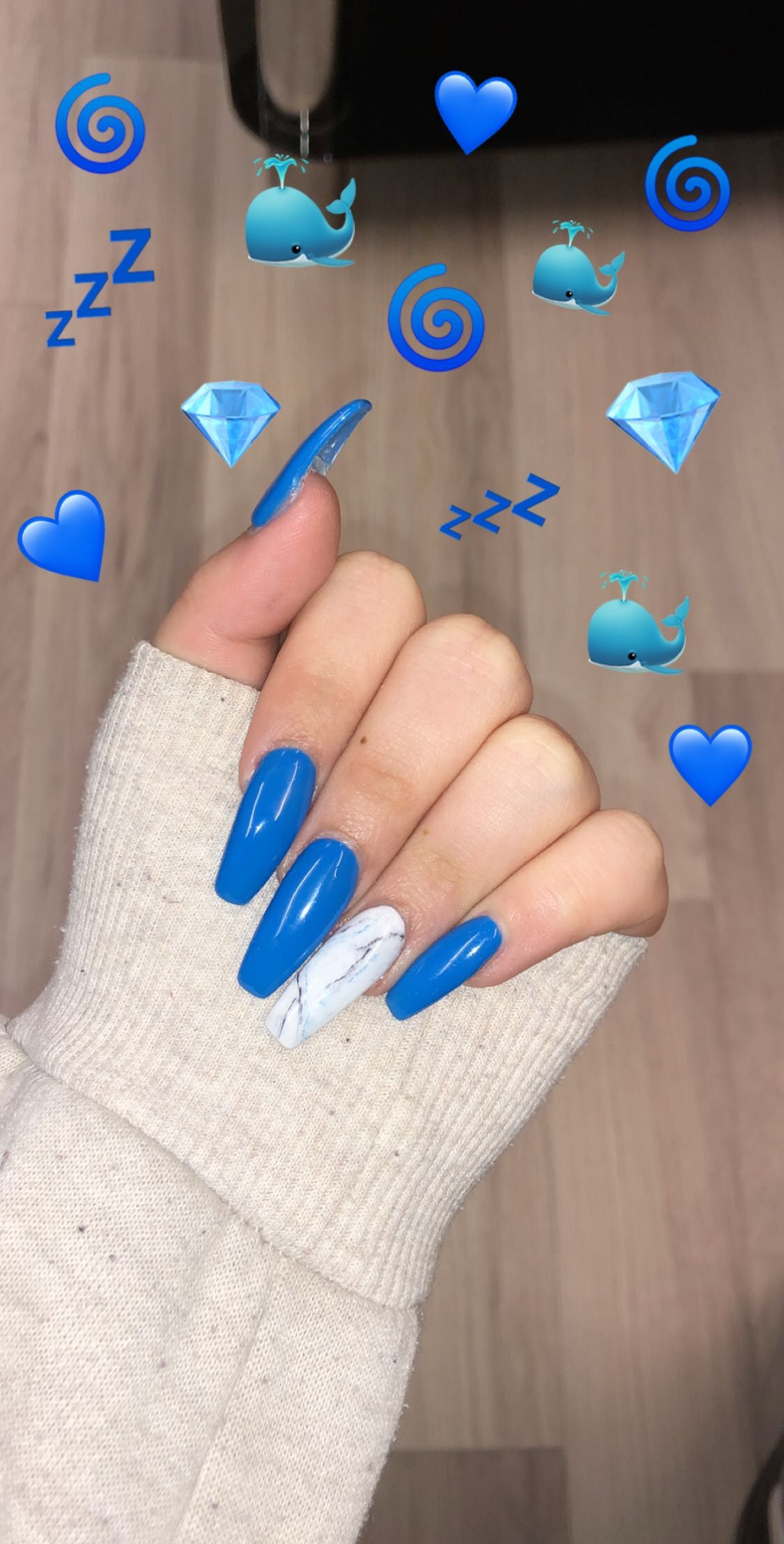 Pin By Jeanine Toonen On Nails Blue Acrylic Nails Marble Nail Designs Marble Acrylic Nails