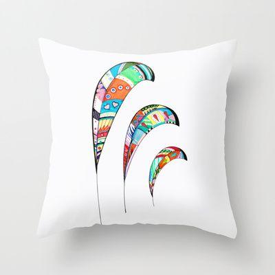 Plumas Throw Pillow by Heaven7 - $20.00