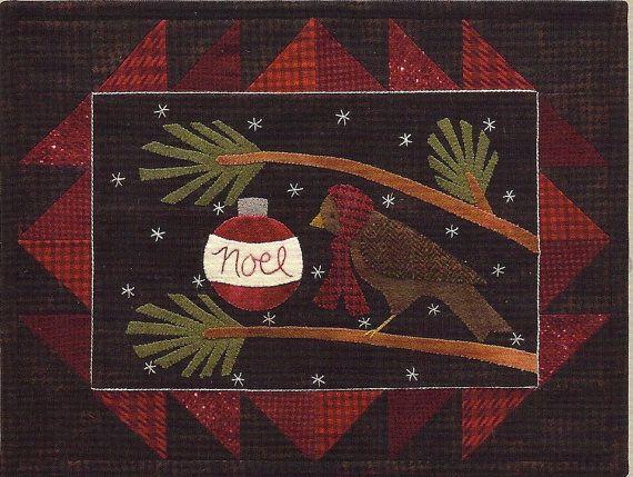 Primitive Folk Art Whimiscal Wool Applique by PrimFolkArtShop, $7.95
