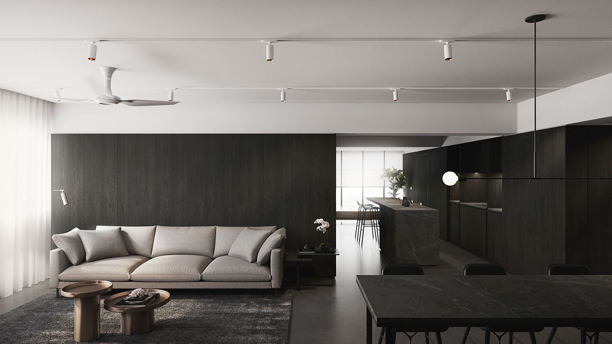 Dusun Singapore On Behance In 2019 Minimalist Home Living Room Designs Interior Design Singapore