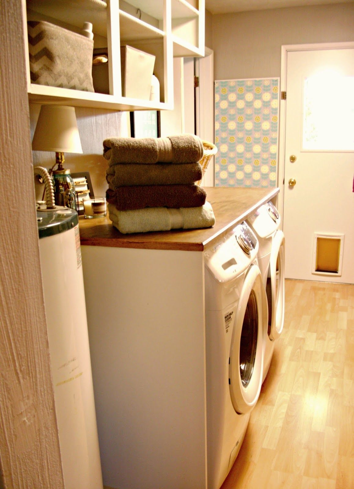 Laundry Room Redo Hiding The Electrical Panel Hot Water Heater Laundry Room Closet Dream Laundry Room Hide Water Heater