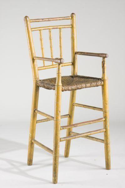 american windsor child s high chair ca 1800 mustard pinterest
