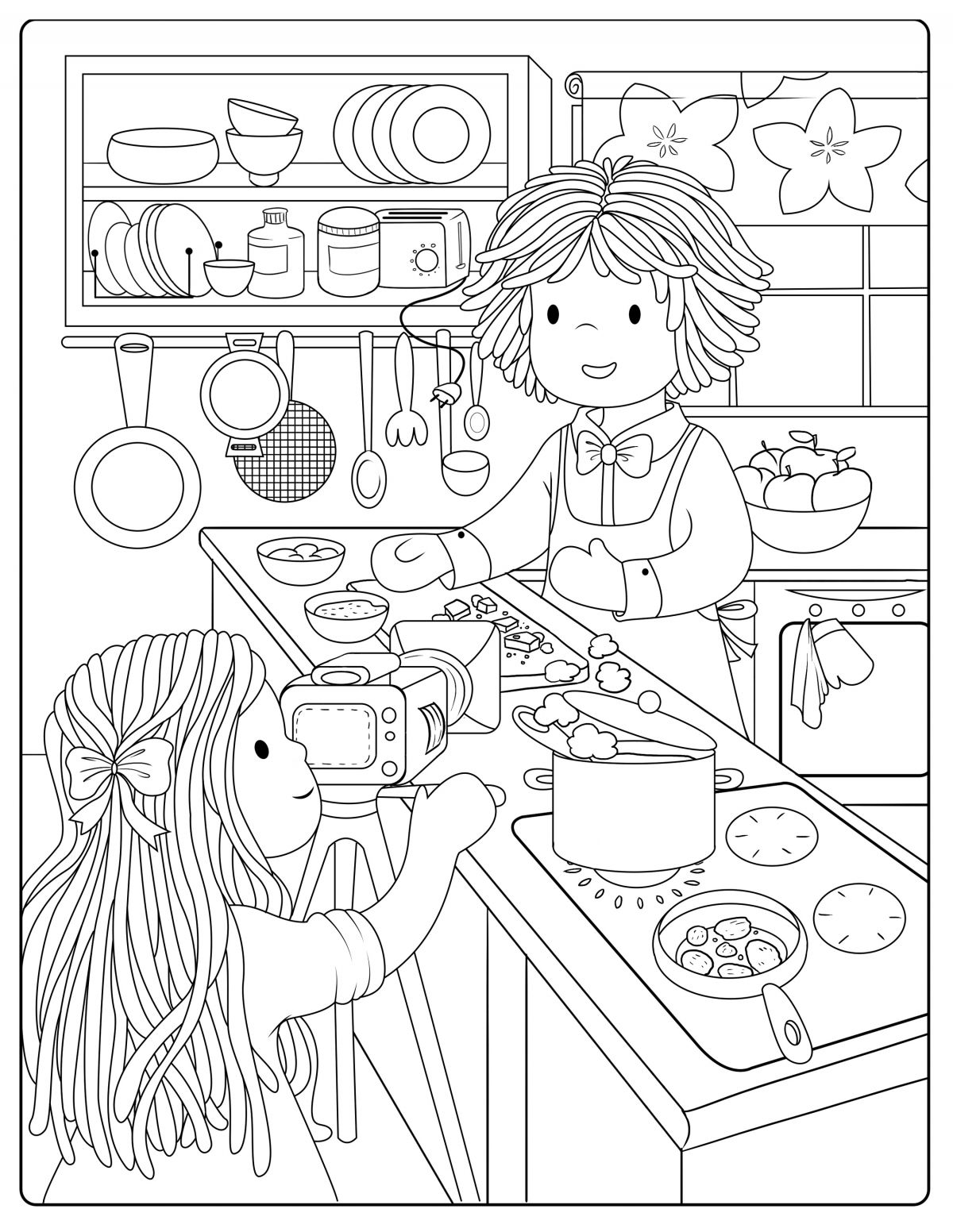 Cooking Show Colouring Page Coloring Pages Princess Coloring Pages Coloring Pages For Kids