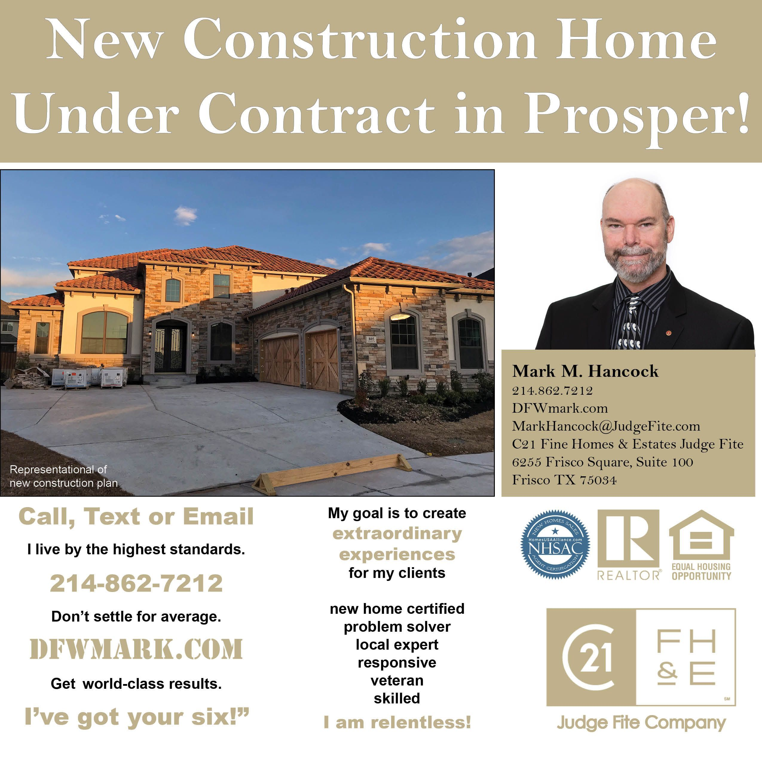 New Construction Home Under Contract in Prosper A new Toll Brothers plan with a exterior is under contract in Star Trails in Prosper Call text or email DFWmark when youre...