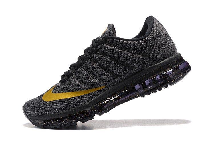 quality design 9c6e4 c3b9a Nike Air Max 2016 Men Mesh Carbon Black Gold