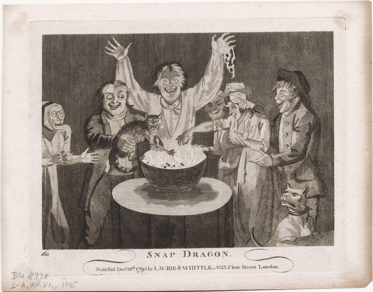 1795 December 12th Snap Dragon By Isaac Cruikshank Game
