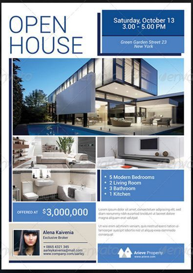 Sample Real Estate Flyer At Open House To Open House Flyer Template