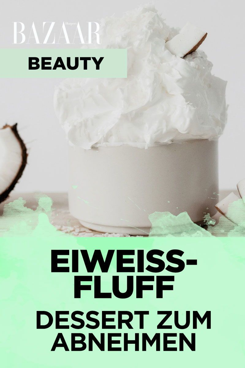 Dessert zum Abnehmen: Der Eiweiß-Fluff hat nur 30 Kalorien