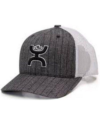 a43760fe78f Hooey® Rock Grey Pinstripe Trucker Cap