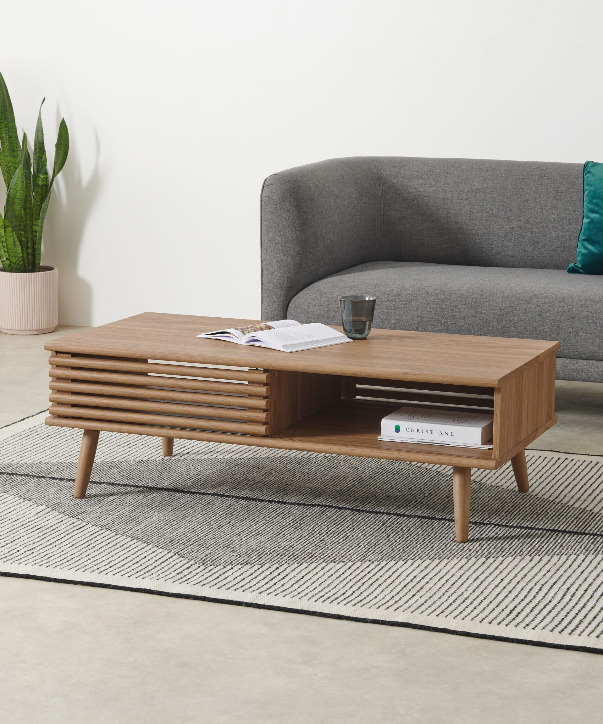 Tulma Storage Coffee Table Oak Effect Coffee Table For Small Living Room Coffee Table With Storage Coffee Table [ 2302 x 1918 Pixel ]