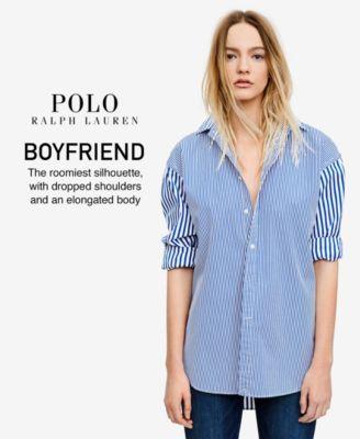0510ba55 Polo Ralph Lauren Tartan Flannel Cotton Boyfriend Shirt - Evergreen/Navy 14