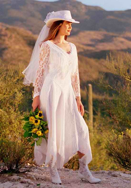 Western Themed Wedding Gowns