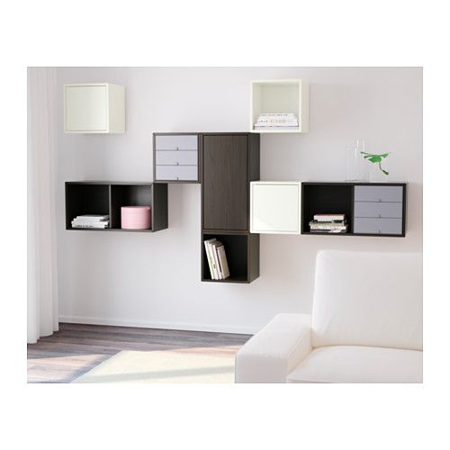 IKEA VALJE wall cabinet with 3 doors Optimise your storage with PALLRA boxes,  or PALLRA