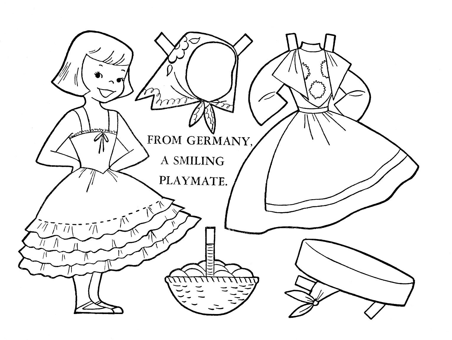 Germany 1 Jpg 1531 1152 Coloring Pages Paper Dolls Coloring Pages For Kids