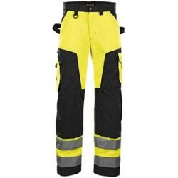 Photo of Blakläder® men's high visibility trousers 1566 yellow size 21