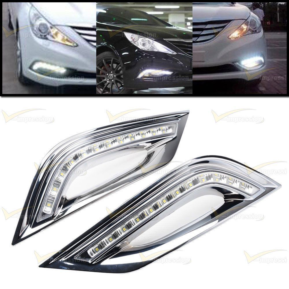 Car DRL Driving LED Daytime Running Lighting Lamp For Hyundai Sonata 2010~2014