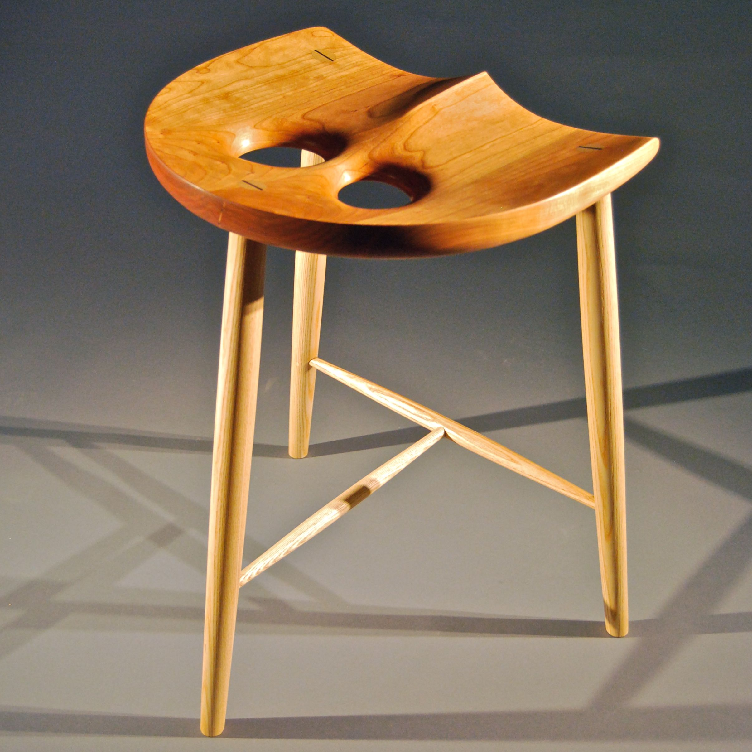 Classic Owl Ergonomic Handcrafted Wooden Stool Furniture Stool