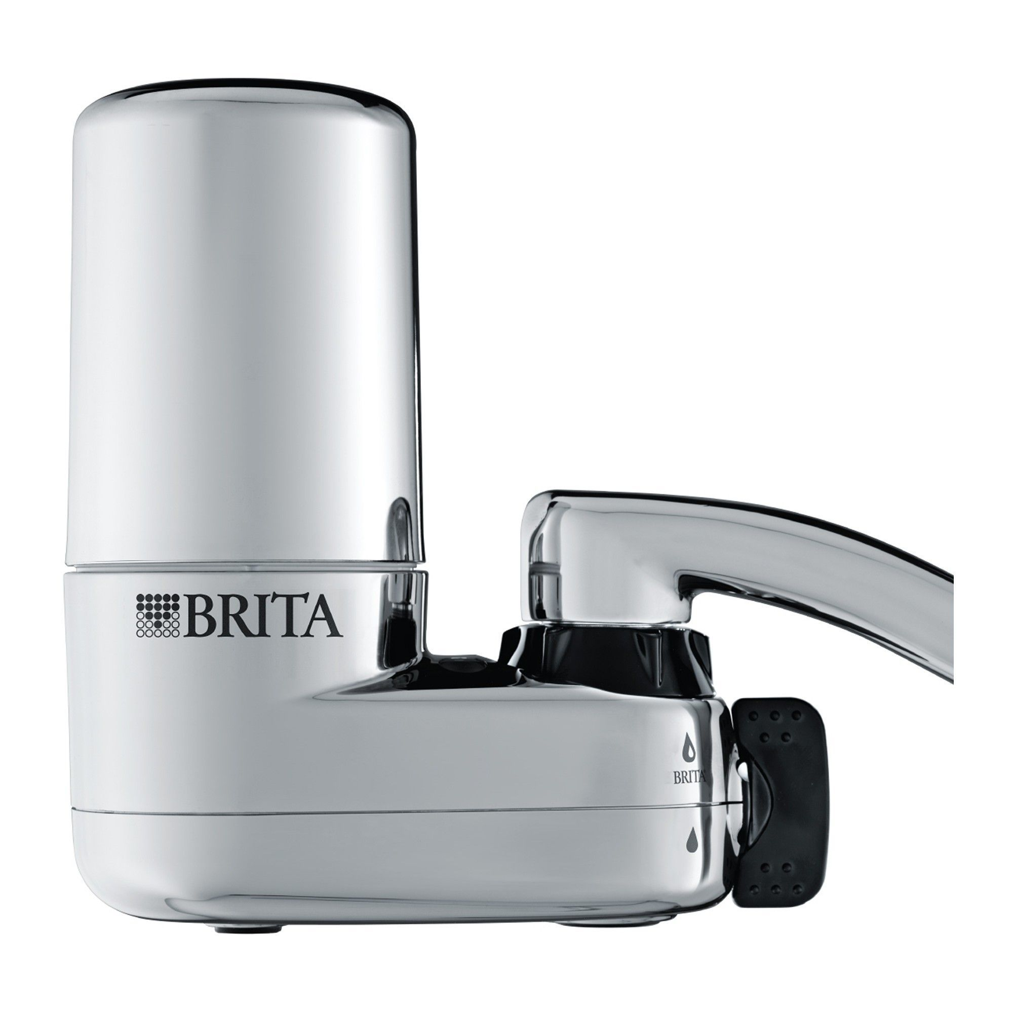 Brita on tap faucet water filter system chrome grey
