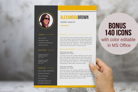Complete resume pack for MS Word ( resume, cover letter, and - reference template for resume