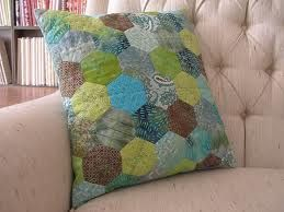 english paper piecing -never thought about doing a pillow - like it!