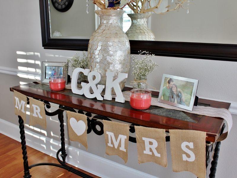 entry hall table decor at rockwall wedding chapel rockwall tx