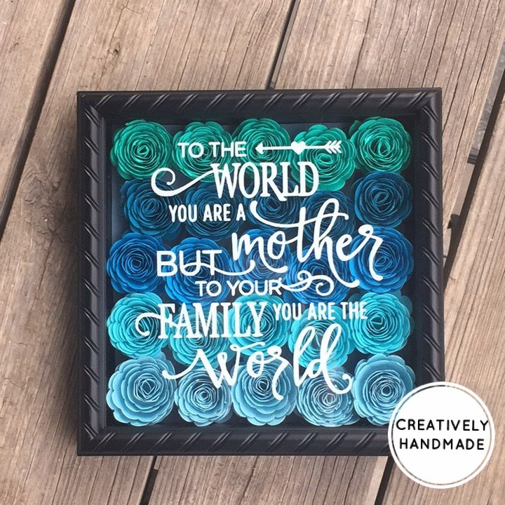 Mother's Day gift, Mother's Day shadow box, mom, mother