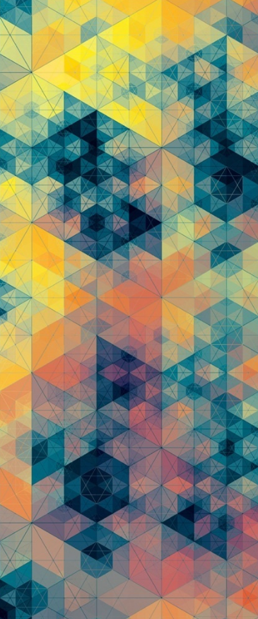 cool geometric pattern with great colors design inspiration