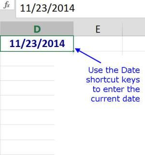 Use These Shortcut Keys To Add The Current Date Time In Excel Excel Shortcuts Excel Tutorials Current Date