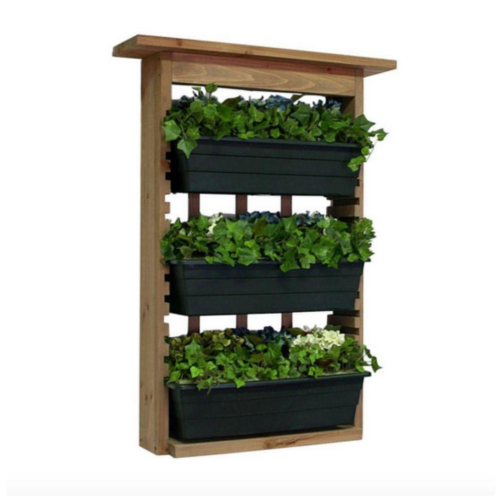 outdoor indoor wooden living vertical garden wall planter on indoor herb garden diy wall vertical planter id=53876