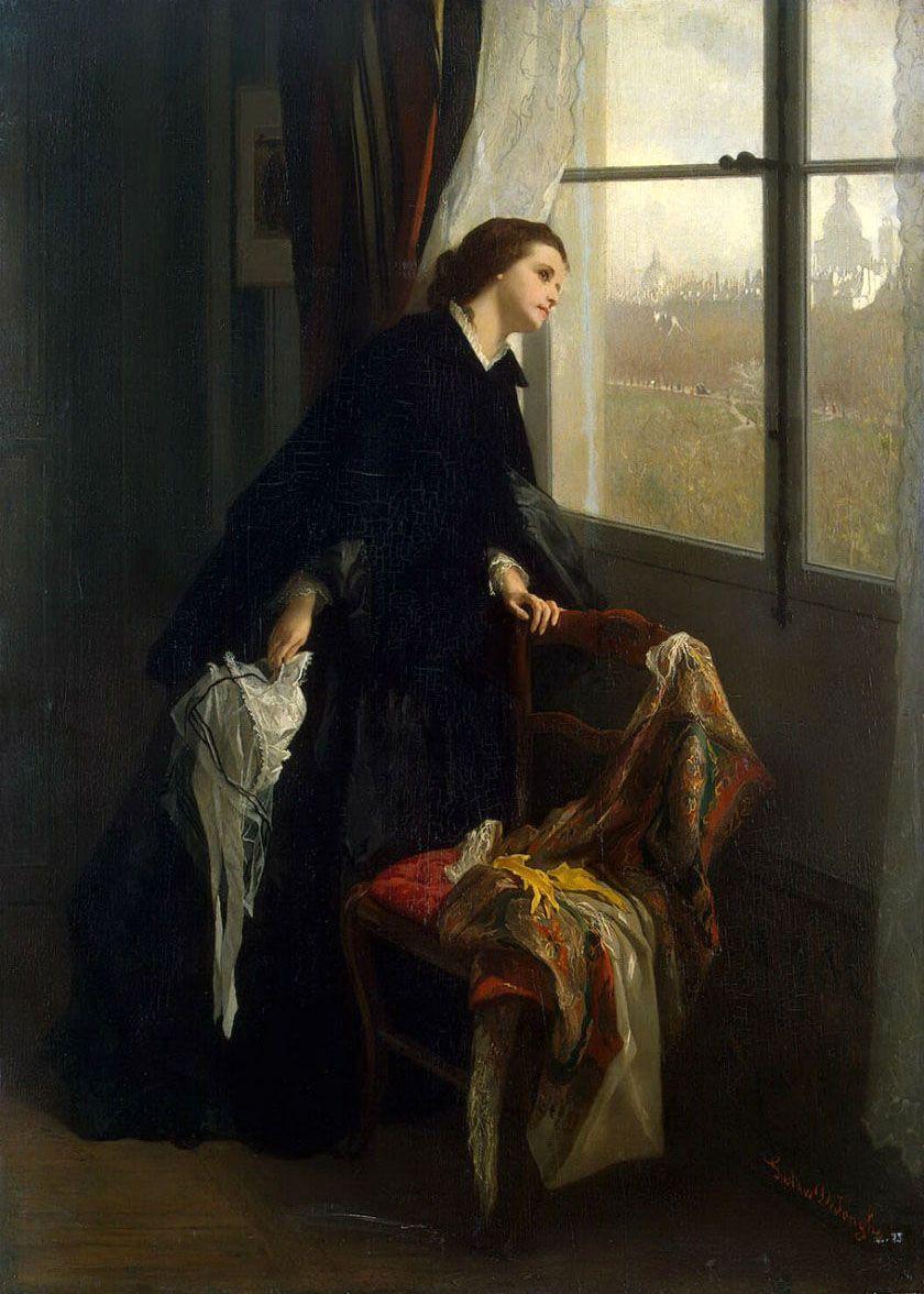 Gustave-Leonard de Jonghe (Belgian, 1829-1893). Changeable Weather