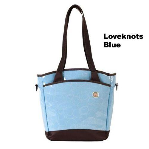 (Limited Supply) Click Image Above: Fleurville Sling Tote Diaper Bag - Loveknots Blue