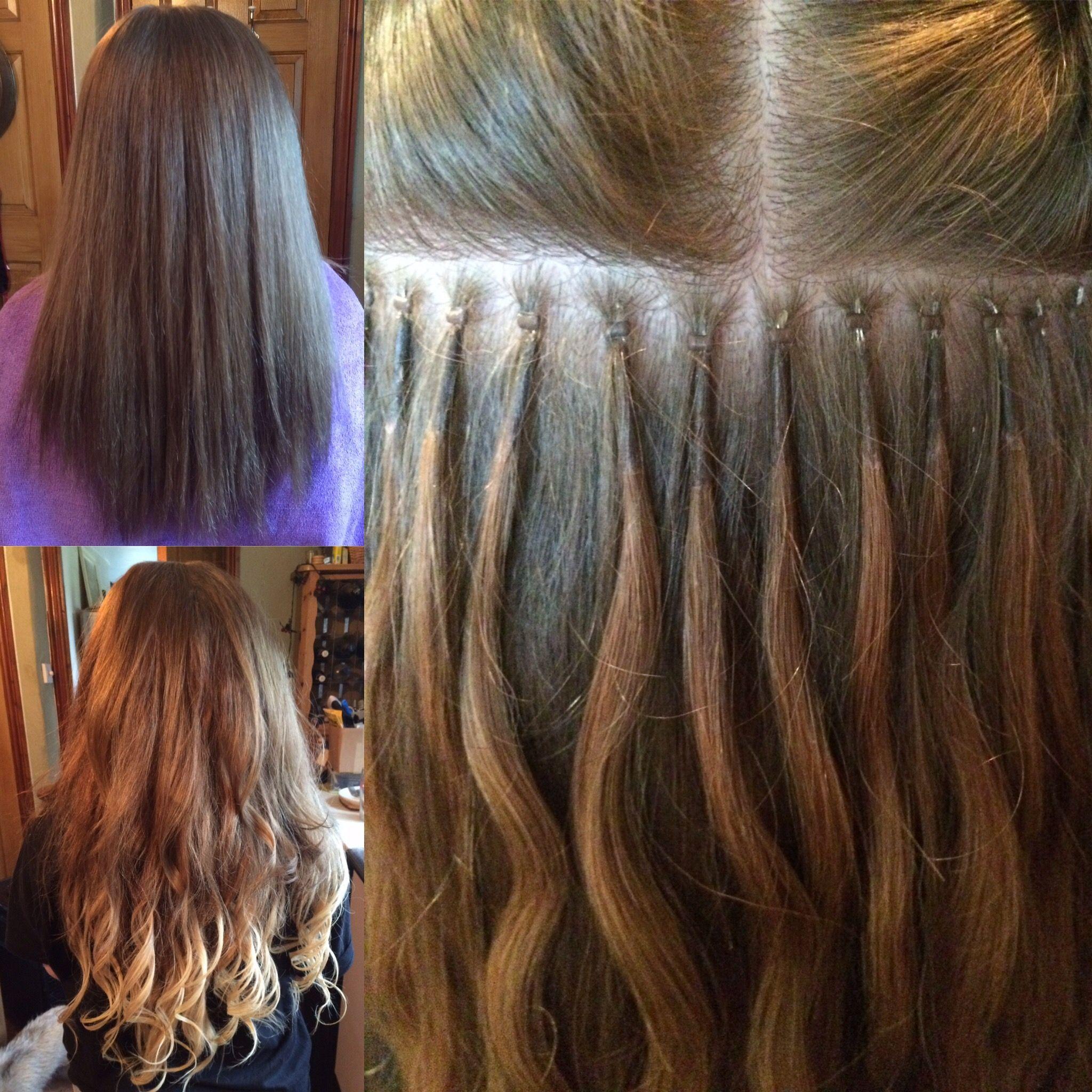 Nano Bead Hair Extensions Holly Hair Pinterest Hair