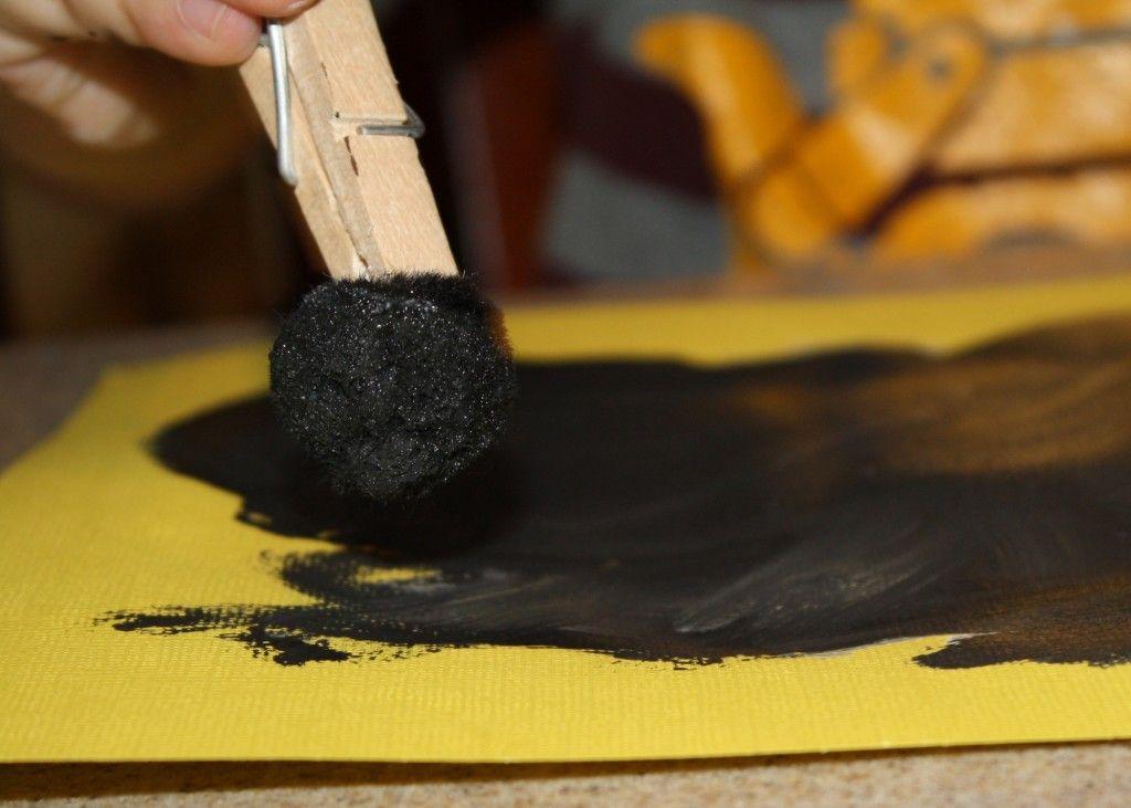 Paint with Pom Poms