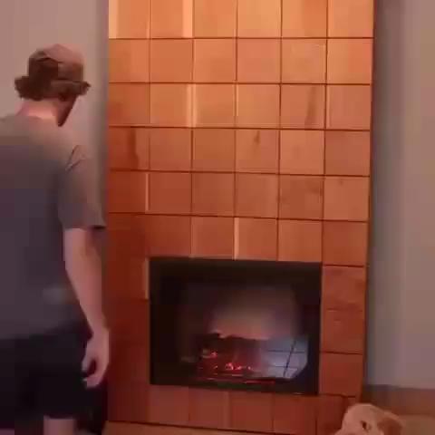 Secret hidden fireplace makeover storage