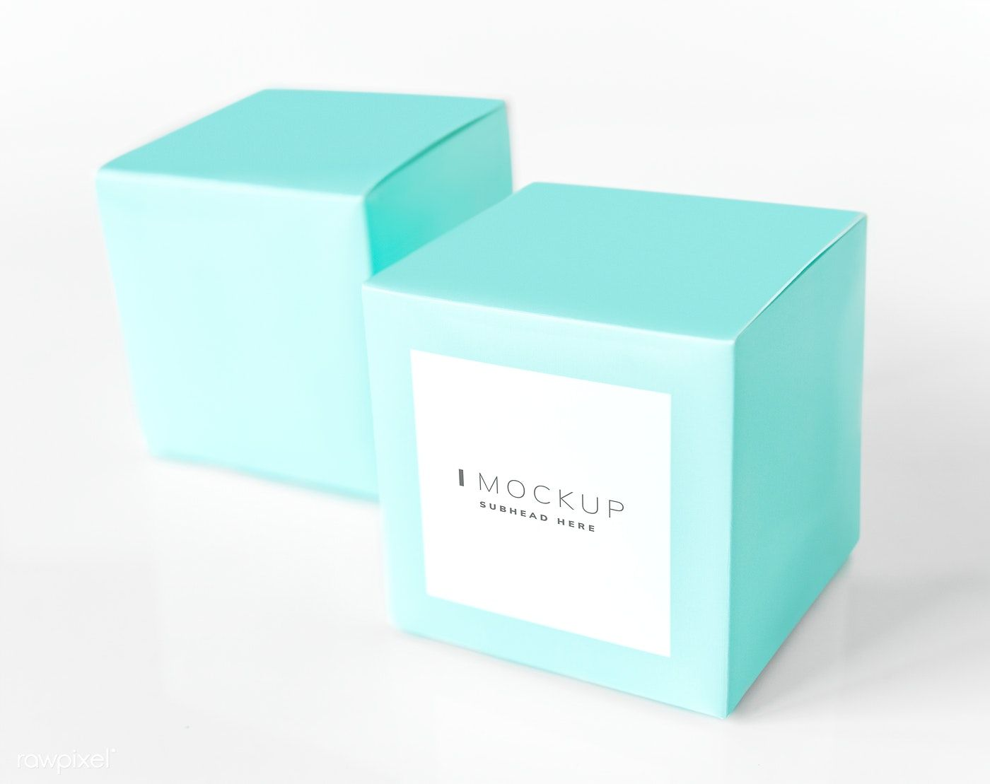 Download Download Premium Psd Of Mint Green Packaging Box Mockup 531759 Box Mockup Box Packaging Packaging