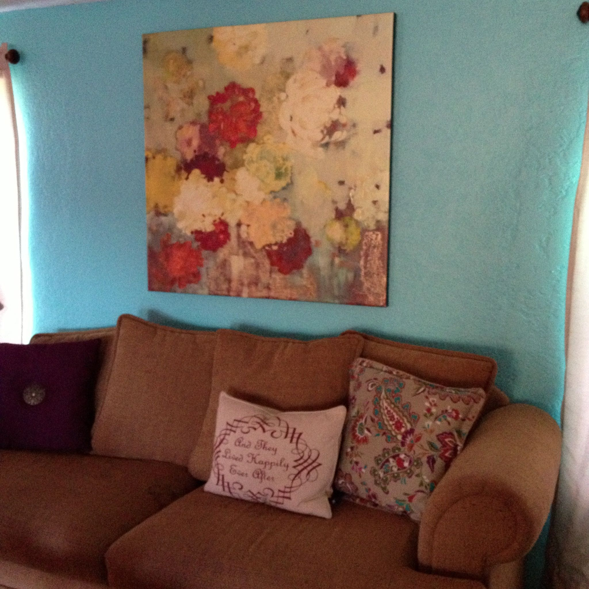 Tiffany blue wall paint (With images)   Blue painted walls ...