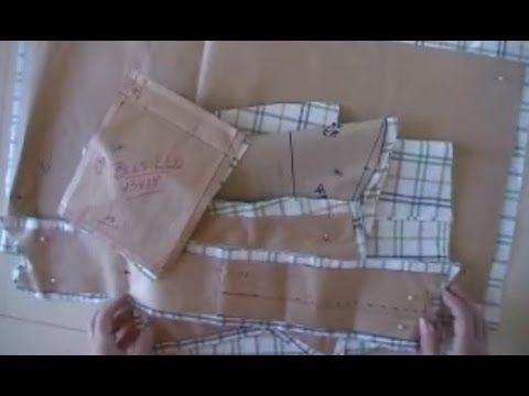 El rincón de Zonia: Cortar camisa hombre con canesu talla regular
