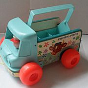 Vintage #131 Fisher Price Milk Wagon 1964-72   The milk is missing :(