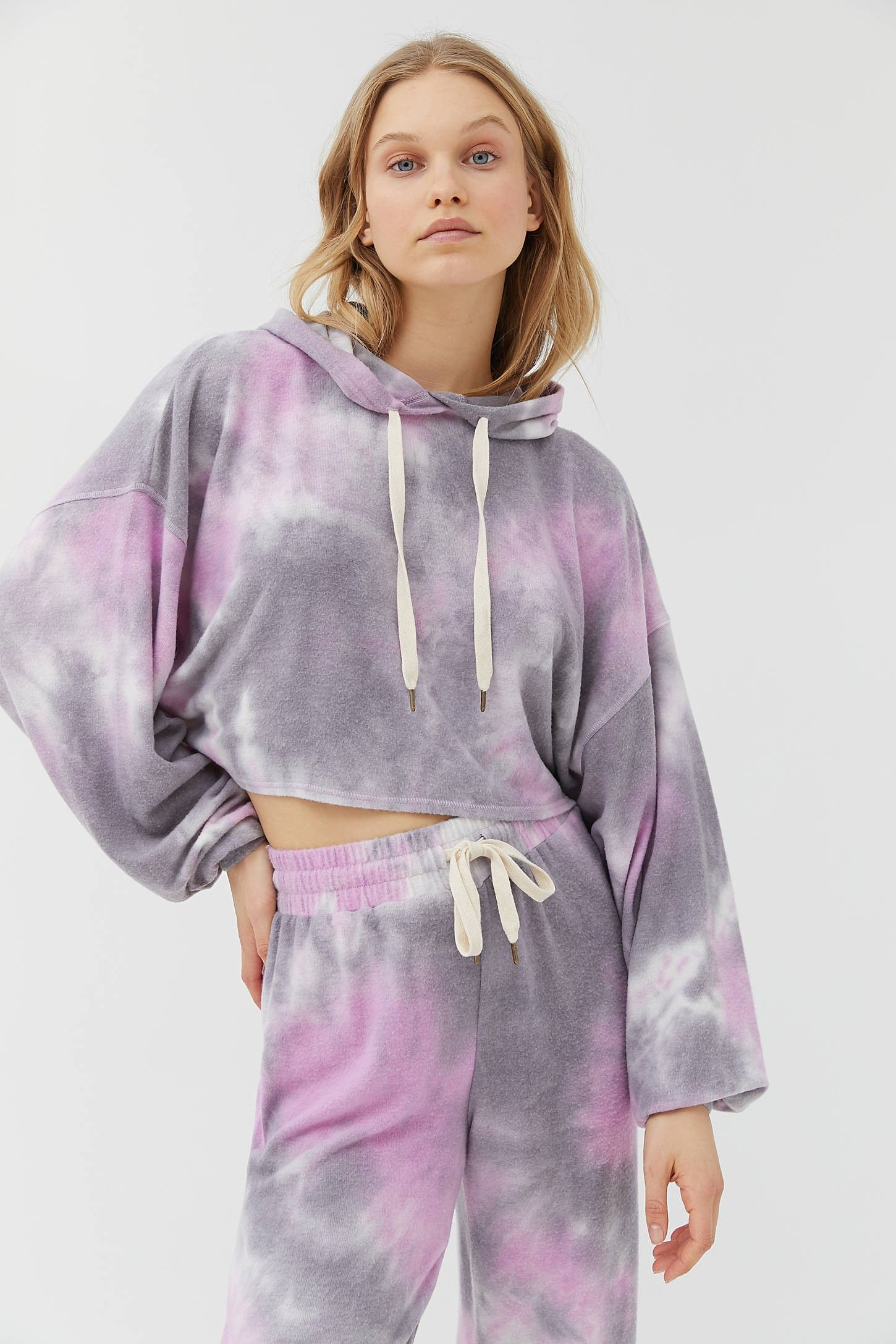 Out From Under Jenny Tie Dye Cropped Hoodie Sweatshirt Crop Sweatshirt Hoodie Hoodies Sweatshirts Hoodie [ 2175 x 1450 Pixel ]
