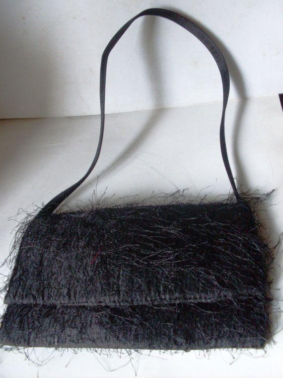 Vintage Italian Designer Handbag Made Of Black By Suzscollectibles