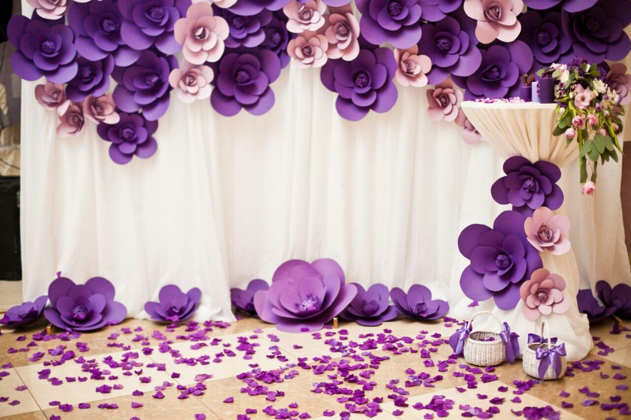 картинки украшения зала бумажными цветами всех