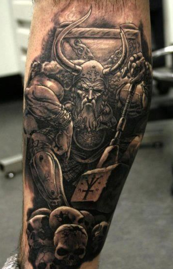 Top 25 Calf Tattoos For Men And Women Viking tattoos for