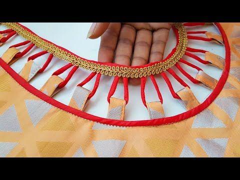 Model blouse dori gala back neck design cutting and stitching /blouse designs