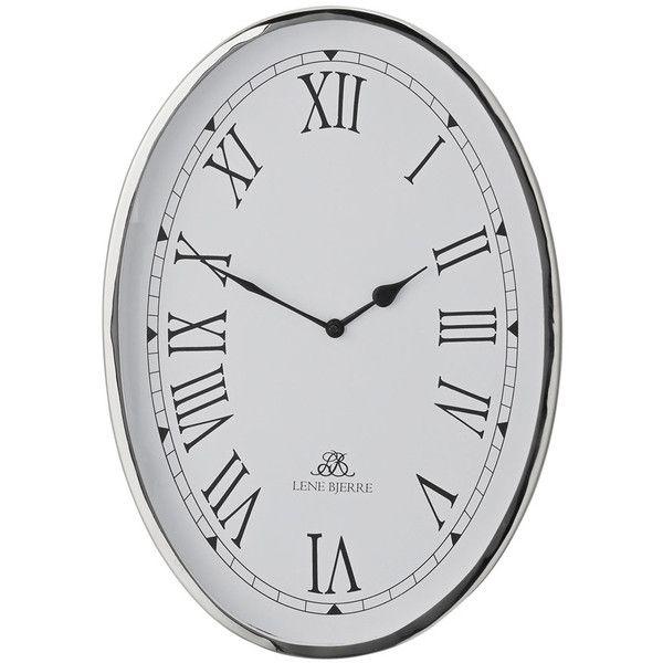 Lene Bjerre Clotilde Clock 32cm Silver 215 Liked On Polyvore Featuring Home Home Decor Clocks Silver Silver Clock White Clocks Interior Design Gifts