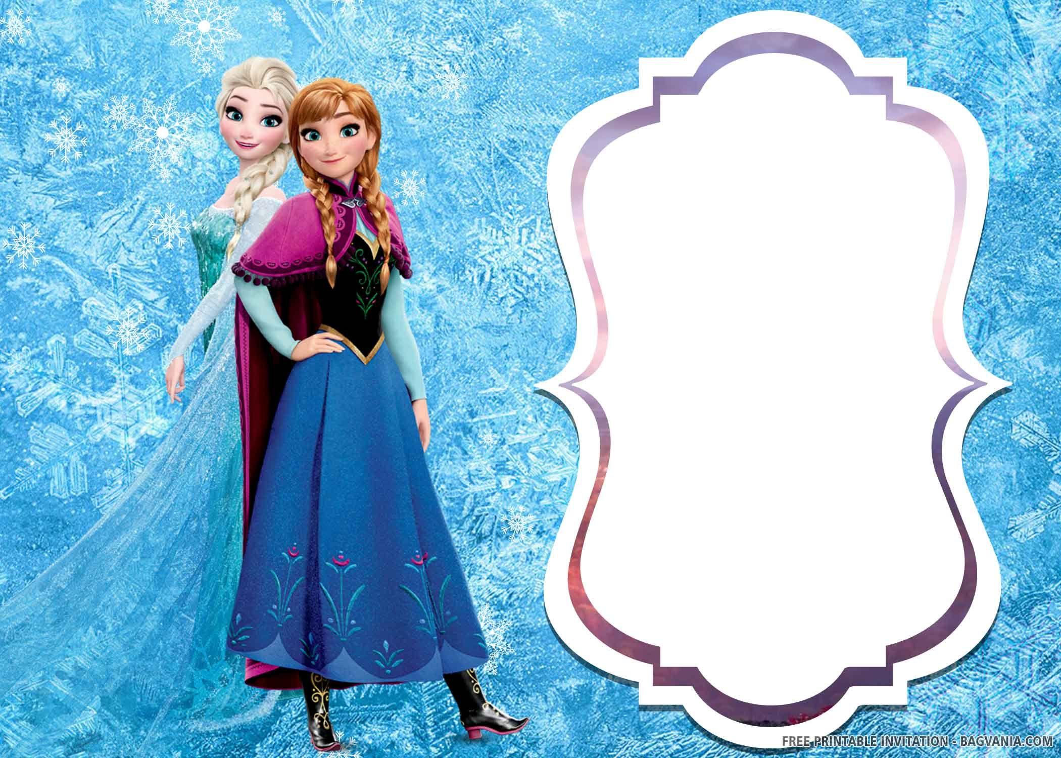 Free Printable Elsa Of Frozen 2 Birthday Invitation Templates 2nd Birthday Invitations Birthday Invitation Templates Frozen Invitations